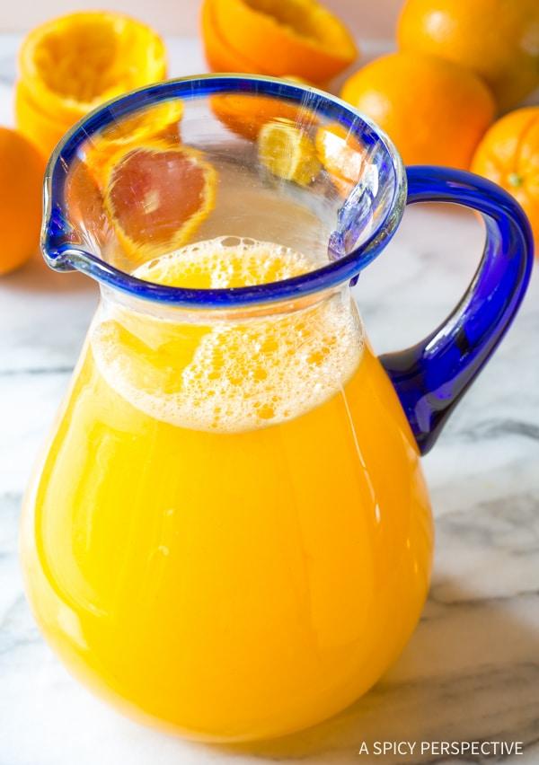 Orangeade #ASpicyPerspective #Orangeade #OrangeadeRecipe #Orange #Summer #Southern #Beverage #Drink