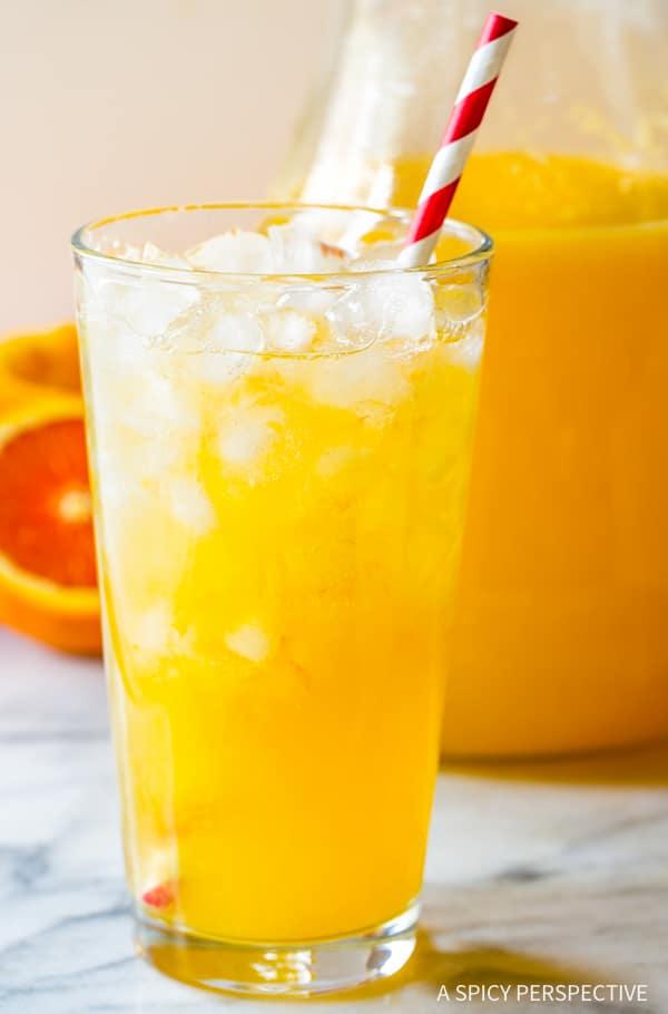 Orangeade Recipe #ASpicyPerspective #Orangeade #OrangeadeRecipe #Orange #Summer #Southern #Beverage #Drink