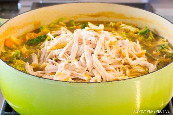 Detox Southwest Chicken Soup Recipe #ASpicyPerspective #Cleanse #Detox #Diet #Soup #Chicken