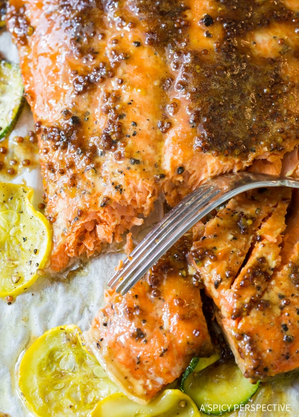 Savory-Sweet Sheet Pan Brown Sugar Baked Salmon with Vegetables Recipe