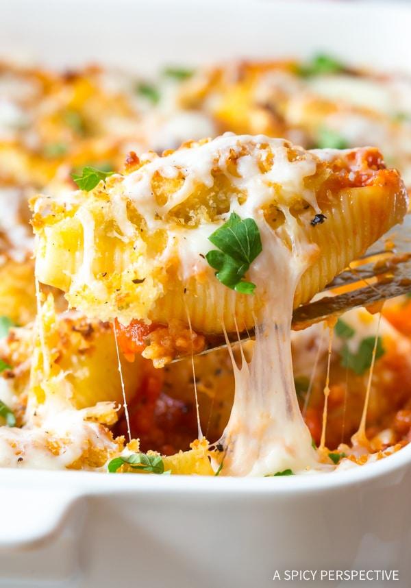 Best Chicken Parmesan Stuffed Shells