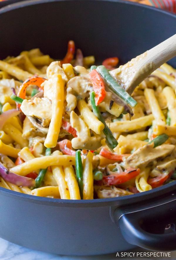 Perfect Cheesy Grilled Chicken Rasta Pasta Recipe