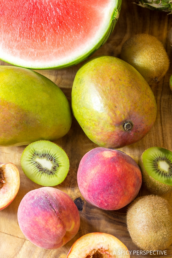 Making Grilled Fruit Salad with Creamy Lime Dressing Recipe