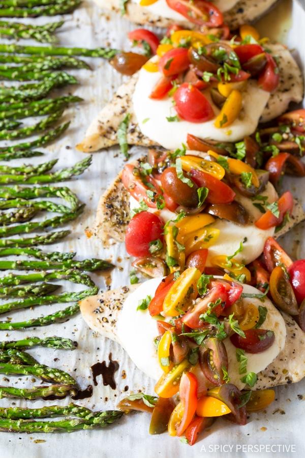 Bruschetta Chicken Sheet Pan Dinner Recipe