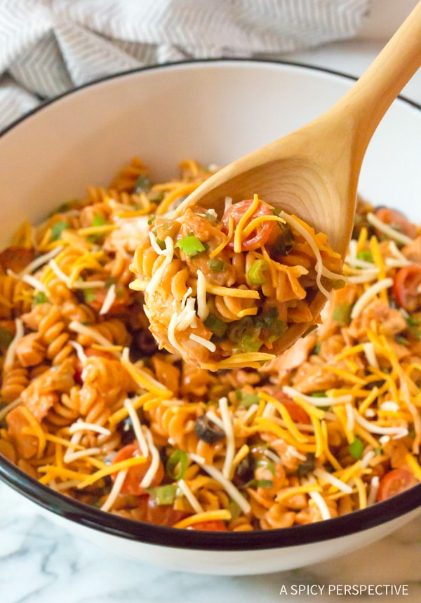 Cool and Zesty Chicken Taco Pasta Salad Recipe #best #mexican #summer