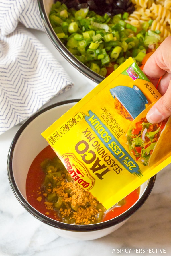How to Make Cool Chicken Taco Pasta Salad Recipe #best #mexican #summer