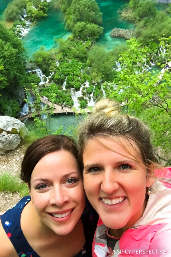 Sommer and Amanda in Plitvice Lakes National Parks in Croatia - Must See! #travel