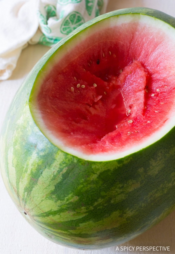 Watermelon #ASpicyPerspective #Rum #RumPunch #RumPunchRecipe #HowtoMakeRumPunch #Watermelon #Party #Alcohol #Cocktails #Summer