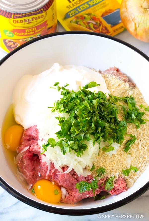 How To: Cheesy Enchilada Meatball Sub Recipe #sandwich #mexican