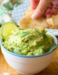 Creamy Avocado Edamame Hummus Recipe - Low Carb, Gluten Free, Vegan, Protein-Packed and Delicious!