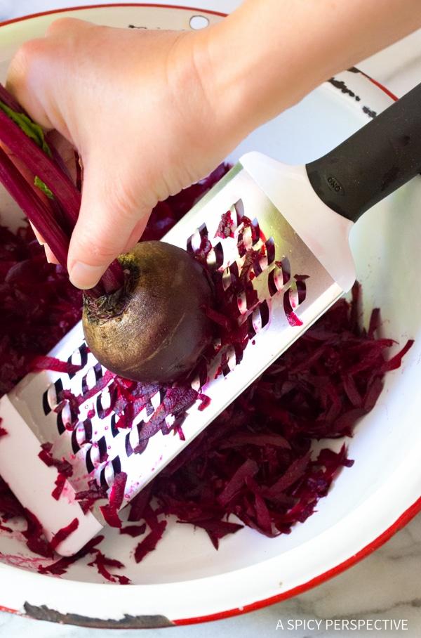 How to Make: Crunchy Beet Carrot Slaw (Healthy, Gluten Free & Vegetarian)