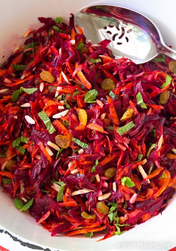 Crunchy Beet Carrot Slaw (Healthy, Gluten Free & Vegetarian)