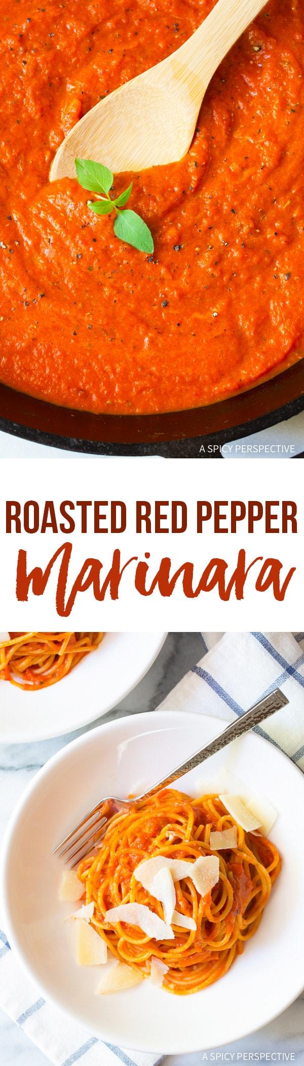 The Best Roasted Red Pepper Marinara Recipe (Vegan, Gluten Free & Delicious!)