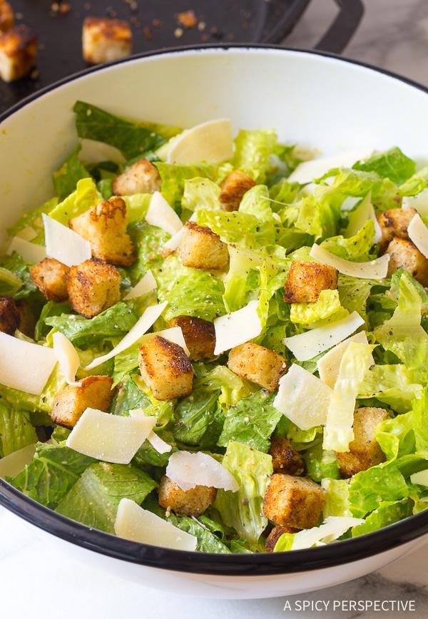 The Best Steakhouse Caesar Salad Ever!