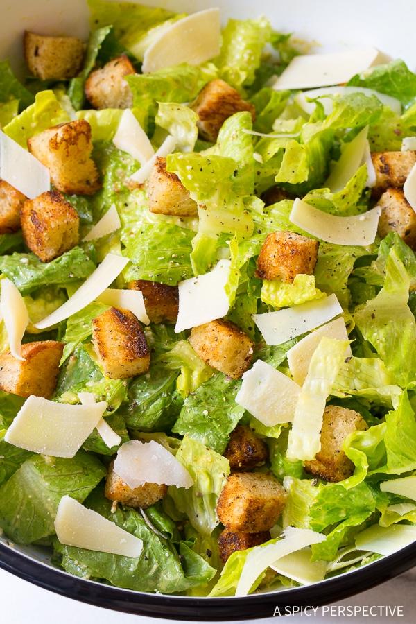 Must Make! The Best Steakhouse Caesar Salad Recipe Ever!