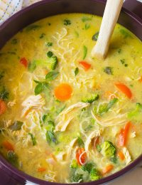 Low Carb Green Curry Chicken Noodle Soup Recipe (Paleo & Ketogenic)