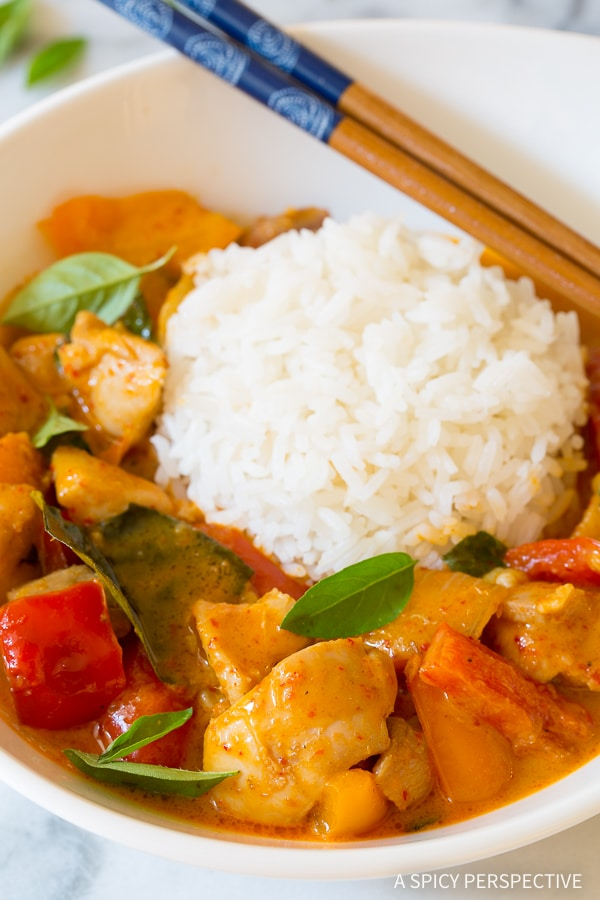 The Best Thai Panang Chicken Curry Ever!
