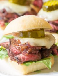 Grilled French Onion Steak Sliders Recipe