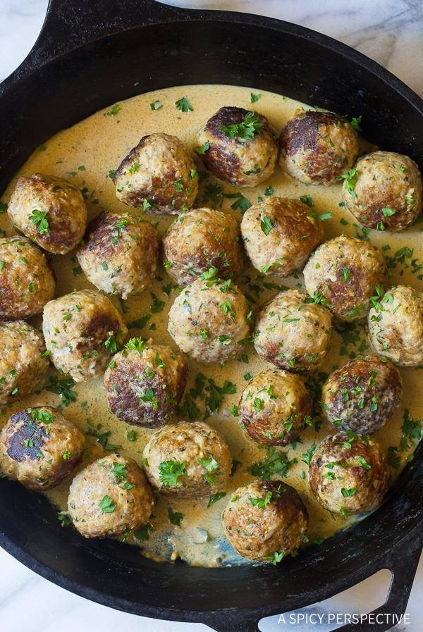 Best Saucy Greek Lemon Meatballs (Keftedes) Recipe