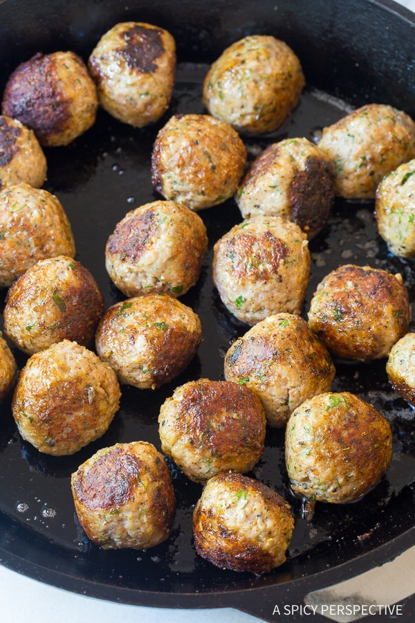 Perfect Saucy Greek Lemon Meatballs (Keftedes) Recipe