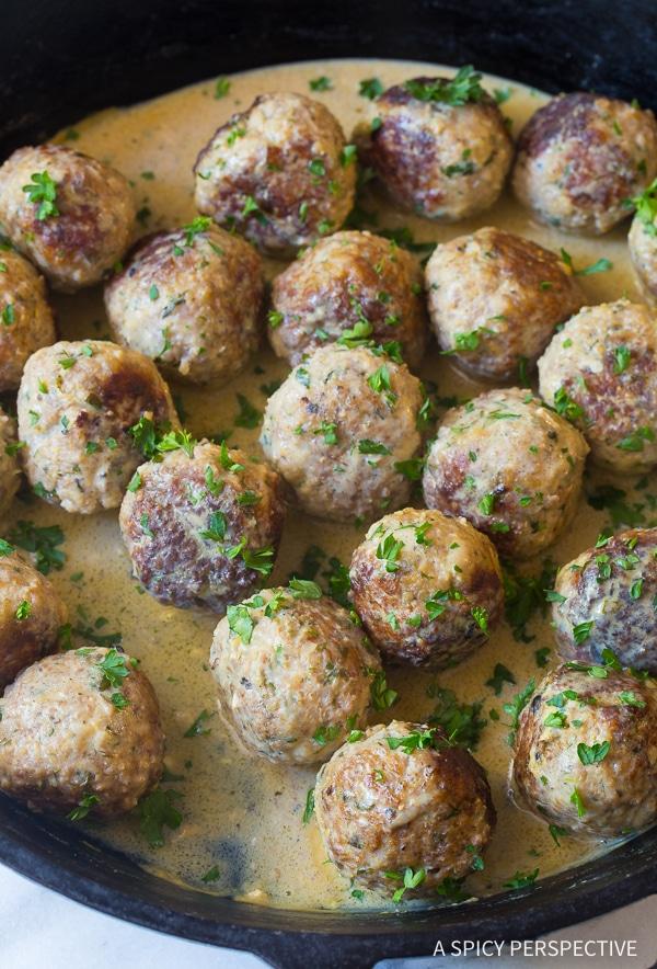 Zippy & Saucy Greek Lemon Meatballs (Keftedes) Recipe