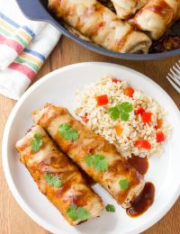 Black Bean Sweet Potato Skillet Enchiladas Recipe