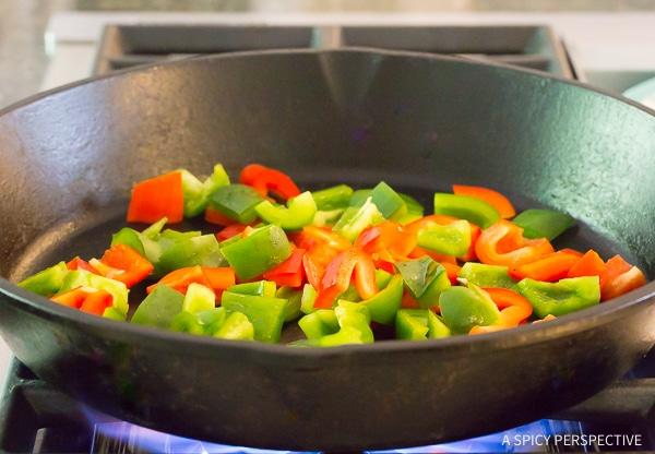 Croatian Skillet Chicken and Vegetables #ASpicyPerspective #Dinner #LowCarb #Chicken #Vegetables #Mushroom #Peppers #Croatian #SkilletChicken #Healthy