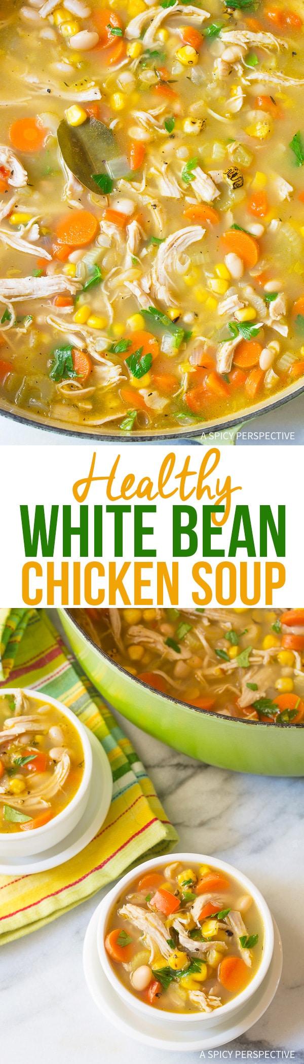 Lean Healthy Chicken White Bean Soup Recipe