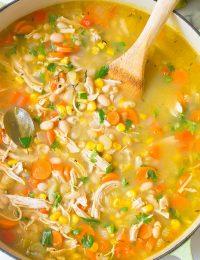 Healthy Chicken White Bean Soup Recipe