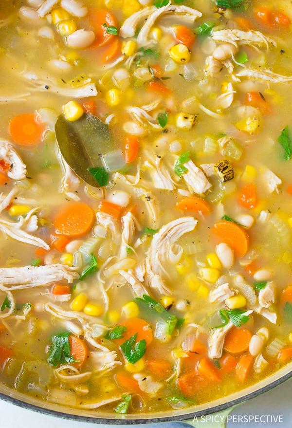 Hearty Healthy Chicken White Bean Soup Recipe