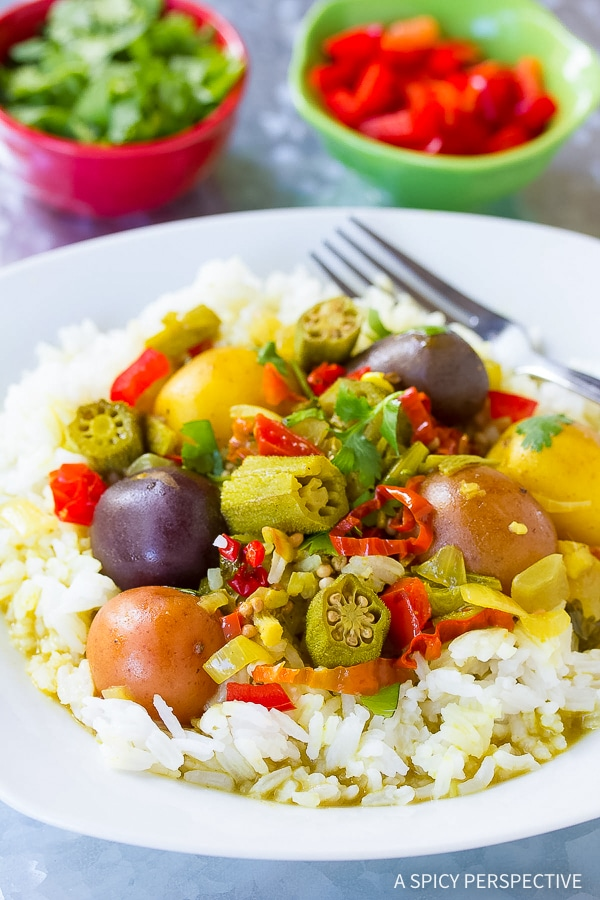 Easy Island Slow Cooker Potato Curry Recipe (Vegetarian!)