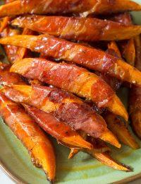 Maple Glazed Prosciutto Wrapped Sweet Potatoes Recipe