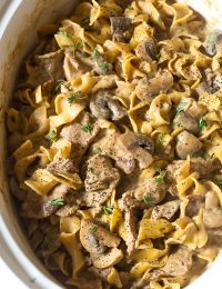 The Best Slow Cooker Beef Stroganoff Recipe