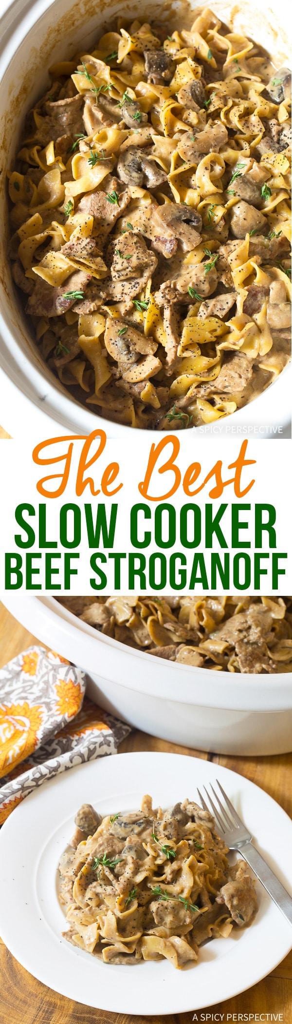 The Best Slow Cooker Beef Stroganoff Recipe Ever!