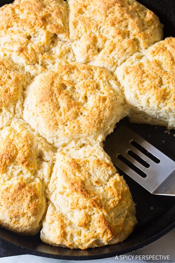 Fluffy Southern Cat Head Biscuits Recipe #ASpicyPerspective #Biscuits #SouthernBiscuits #FluffyBiscuitRecipe #CatHeadBiscuits #Southern