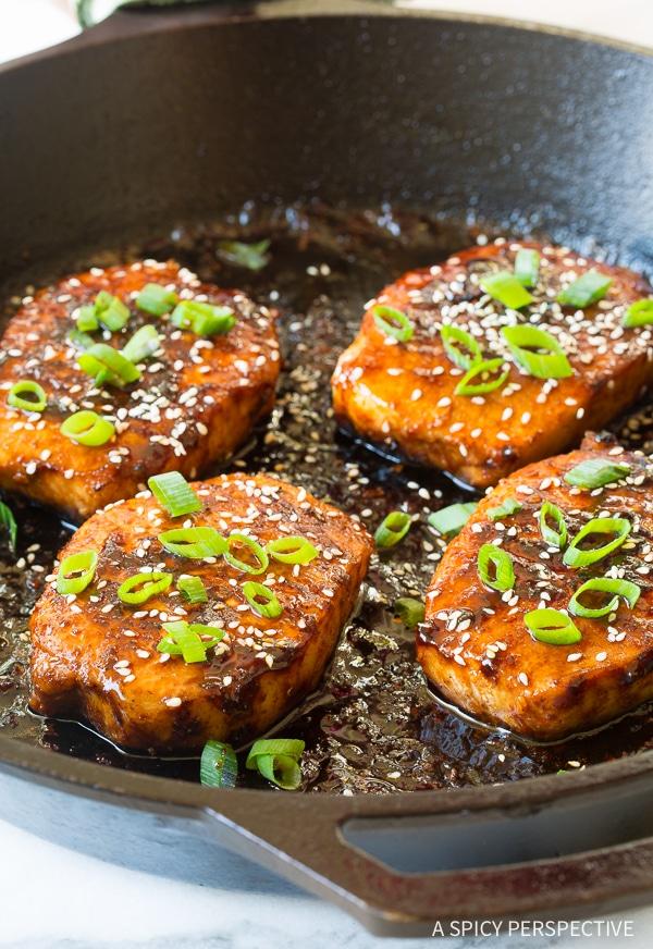 Tangy Pan Fried Korean Pork Chops Recipe