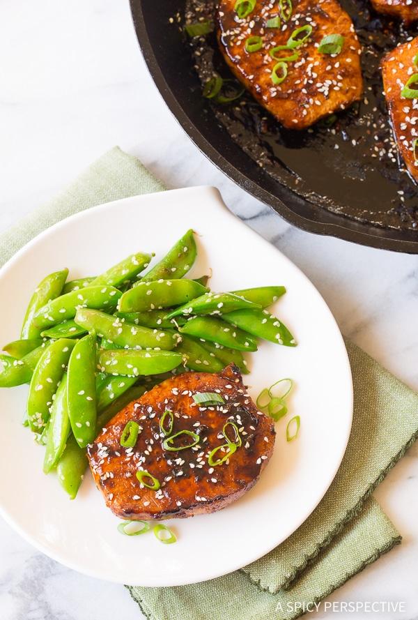 Pan Fried Korean Pork Chops