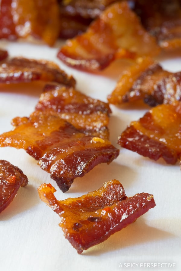 Best Bourbon Candied Bacon Bites - AKA Pig Candy