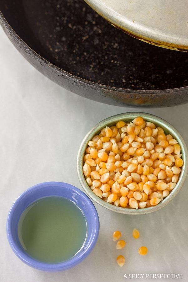 Making Buffalo Blue Cheese Popcorn Recipe
