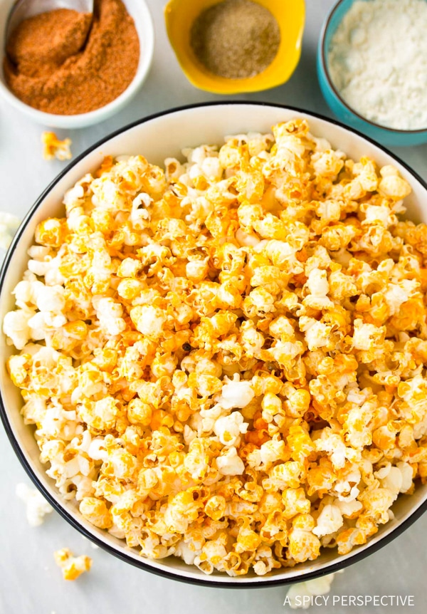 Crunchy Buffalo Blue Cheese Popcorn Recipe