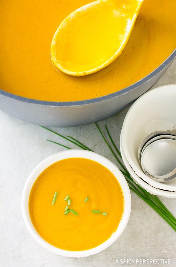 Best Vegan Creamy Golden Vegetable Soup Recipe