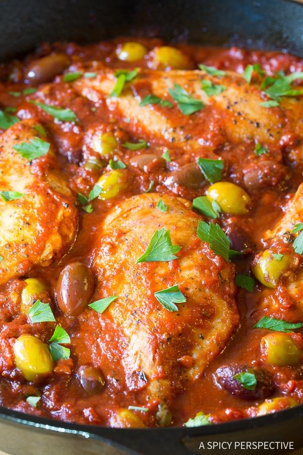 Best Low Carb Skillet Chicken Puttanesca Recipe