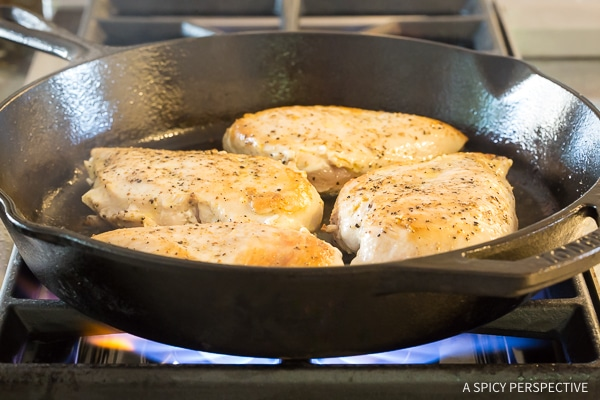 Easy Low Carb Skillet Chicken Puttanesca Recipe