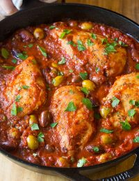 Low Carb Skillet Chicken Puttanesca Recipe