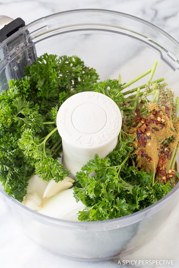 How To: Skinny Creamy Chimichurri Chicken Skillet Recipe