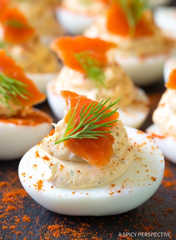Smoked Salmon Dip Deviled Eggs Recipe