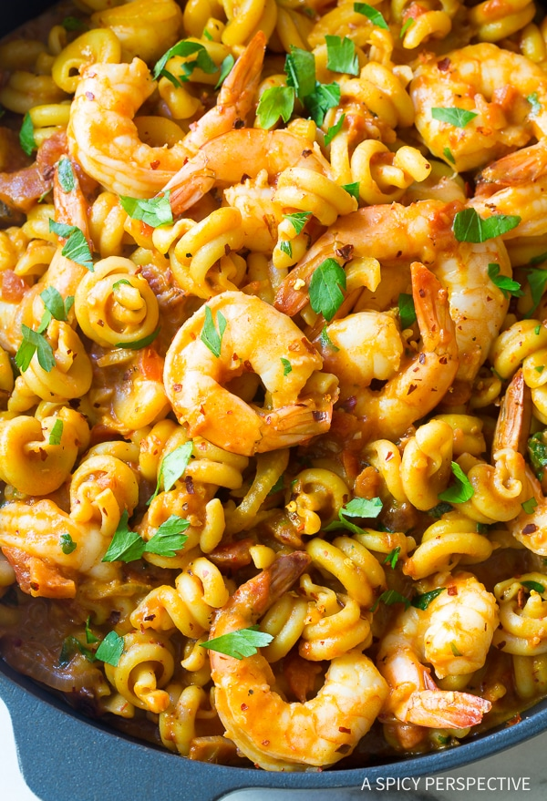 Skillet Shrimp Fra Diavolo Pasta Recipe (with Instant Pot instructions!)