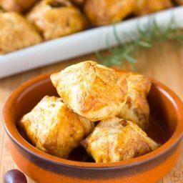 Bacon Kalamata Cheese Puffs Recipe