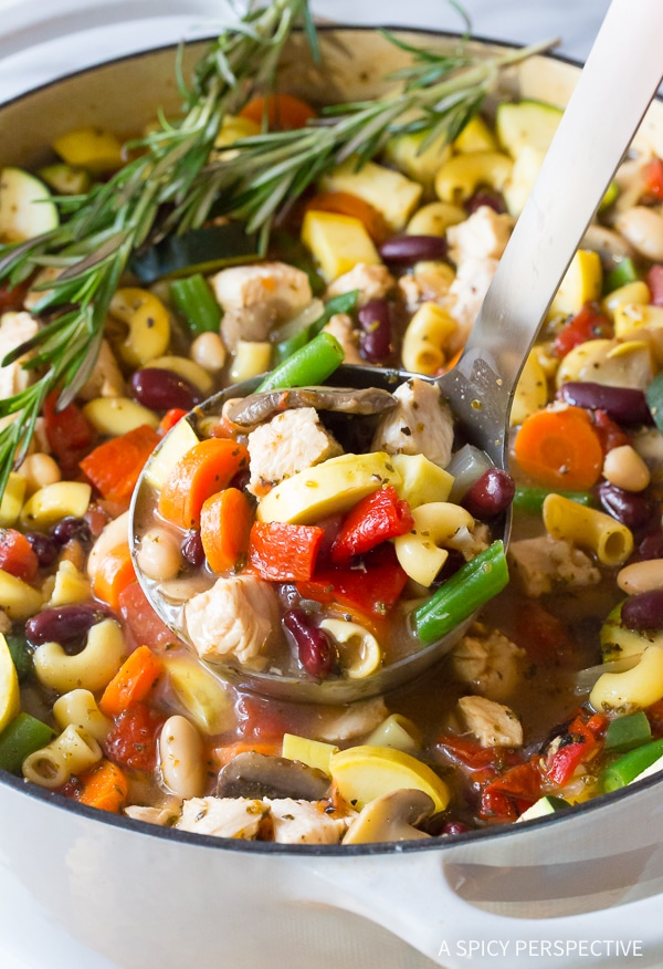 Easy to Make Healthy Chicken Minestrone Soup Recipe