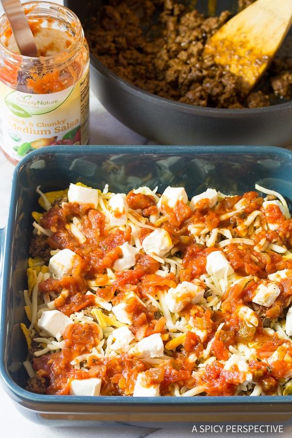 How to Make Cool Ranch Taco Lasagna Recipe - Mexican Lasagna with huge zesty flavor!